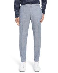 Pantalón chino de lino celeste