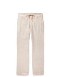 Pantalón chino de lino en beige de 120%