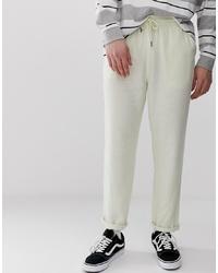 Pantalón chino de lino en beige de ASOS DESIGN
