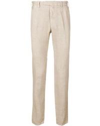 Pantalón chino de lino en beige de Borrelli