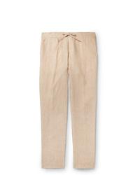 Pantalón chino de lino en beige de Loro Piana