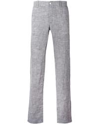 Pantalón chino de lino gris