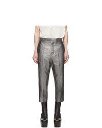 Pantalón chino de lino plateado de Rick Owens