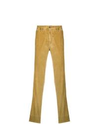 Pantalón chino de pana amarillo de Incotex