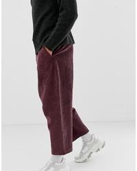 Pantalón chino de pana burdeos de ASOS DESIGN