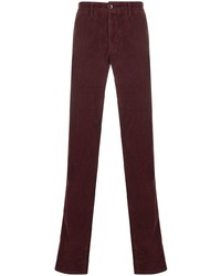 Pantalón chino de pana burdeos de Incotex