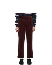 Pantalón chino de pana burdeos de Noah NYC
