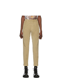 Pantalón chino de pana en beige