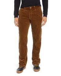 Pantalón chino de pana marrón
