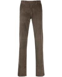 Pantalón chino de pana marrón de Canali