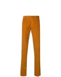 Pantalón chino de pana naranja de Incotex