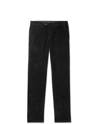 Pantalón chino de pana negro de Canali
