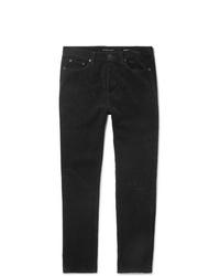 Pantalón chino de pana negro de Saint Laurent
