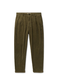 Pantalón chino de pana verde oliva de Alex Mill