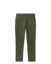 Pantalón chino de pana verde oliva de Boglioli