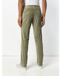Pantalón chino de pana verde oliva de Incotex