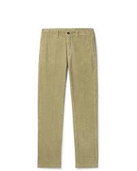 Pantalón chino de pana verde oliva de Massimo Alba