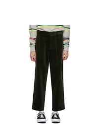 Pantalón chino de pana verde oliva de Noah NYC