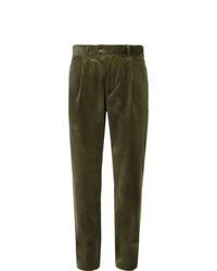 Pantalón chino de pana verde oliva de Oliver Spencer