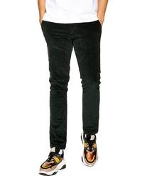 Pantalón chino de pana verde oscuro