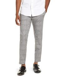 Pantalón chino de pata de gallo gris