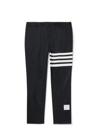 Pantalón chino de rayas horizontales azul marino de Thom Browne