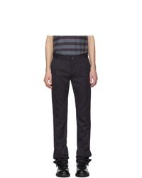 Pantalón chino de rayas verticales azul marino de Daniel W. Fletcher