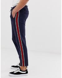 Pantalón chino de rayas verticales azul marino de Jack & Jones