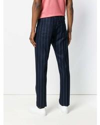 Pantalón chino de rayas verticales azul marino de Jacob Cohen