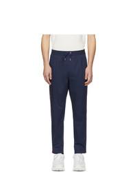 Pantalón chino de rayas verticales azul marino de Moncler