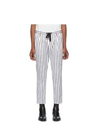 Pantalón chino de rayas verticales blanco