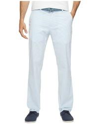 Pantalón chino de rayas verticales celeste