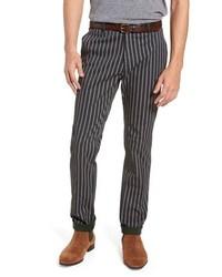 Pantalón chino de rayas verticales en gris oscuro