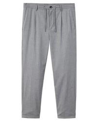 Pantalón chino de rayas verticales gris de Mango