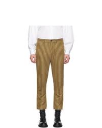 Pantalón chino de rayas verticales marrón