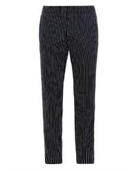 Pantalón chino de rayas verticales negro