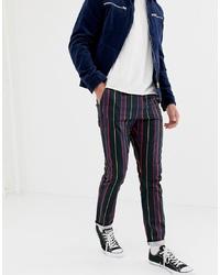 Pantalón chino de rayas verticales negro de ASOS DESIGN