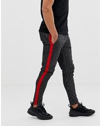 Pantalón chino de rayas verticales negro de Jack & Jones