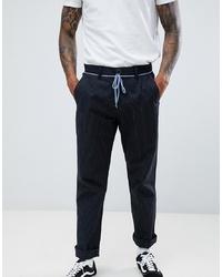 Pantalón chino de rayas verticales negro de Volcom