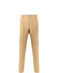Pantalón chino de sarga marrón claro de Thom Browne