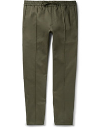 Pantalón chino de sarga verde oliva de Valentino