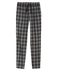 Pantalón chino de tartán en gris oscuro