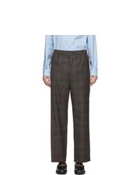 Pantalón chino de tartán en marrón oscuro de Gucci