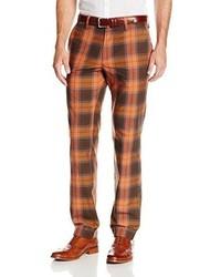 Pantalón chino de tartán en multicolor