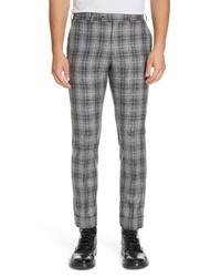 Pantalón chino de tartán gris