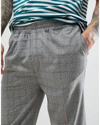 Pantalón chino de tartán gris de Bellfield