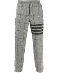 Pantalón chino de tartán gris de Thom Browne