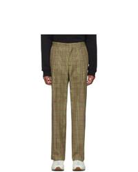 Pantalón chino de tartán marrón