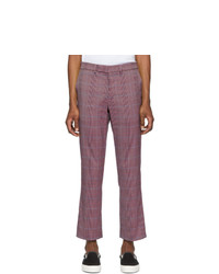 Pantalón chino de tartán morado