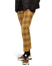 Pantalón chino de tartán mostaza